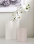 Marmoset Found - Ribbed Infinity Vase Nude (S), shown with Marmoset Found - Ribbed Infinity Vase Snow (M)