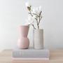 Marmoset Found - Cloud Vase Chalk White (M), shown with Marmoset Found - Cloud Bell Vase Icy Pink (S)
