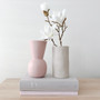 Marmoset Found - Cloud Bell Vase Icy Pink (S), shown with Marmoset Found - Cloud Vase Chalk White (M)