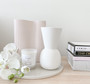 Marmoset Found - Ribbed Infinity Vase Nude (M) with Cloud Bell Vase Snow (S)