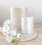 Marmoset Found - Smooth Infinity Vase Nude (M) with Ribbed Infinity Vase - Snow (S)