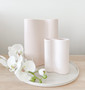 Marmoset Found - Smooth Infinity Vase Nude (M) with Ribbed Infinity Vase - Nude (S)
