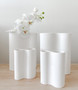 Marmoset Found - Ribbed Infinity Vase - Snow (S) styled with other Infinity Vases - Snow