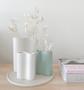 Marmoset Found - Ribbed Infinity Vase - Snow (S) styled with Smooth Infinity Vase - Snow (M) and Smooth Infinity Vase - Blue (S)