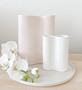 Marmoset Found - Ribbed Infinity Vase - Snow (S) styled with Smooth Infinity Vase - Nude (M)