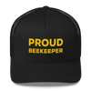 Proud Beekeeper Trucker Cap - (black & gold)