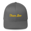 Structured Twill Cap - Team Bee with Back Graphic - GLD