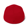 Structured Twill Cap - Team Bee with Back Graphic - RED