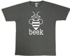 Charcoal Grey T with white Beek