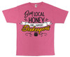 Buy Local (support beekeepers) pink T