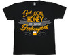 Buy Local (support beekeepers) black T