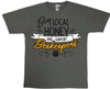 Buy Local (support beekeepers) charcoal grey T