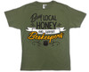 Buy Local (support beekeepers) olive green T