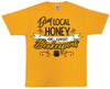 Buy Local (support beekeepers) gold T