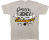 Buy Local (support beekeepers) athletic grey T