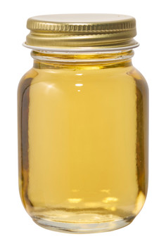 3 oz. glass mini mason jar with gold lid