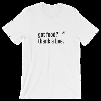 Short-Sleeve Unisex T-Shirt- Got Food? BLK