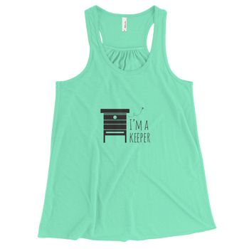 I'm A Keeper Racerback Tank (black design)