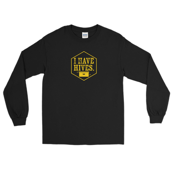 I Have Hives Long Sleeve T-Shirt (gold design)