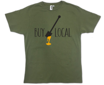 Olive Green Buy Local HoneyT-shirt