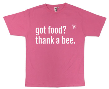 got food? thank a bee. Pink T