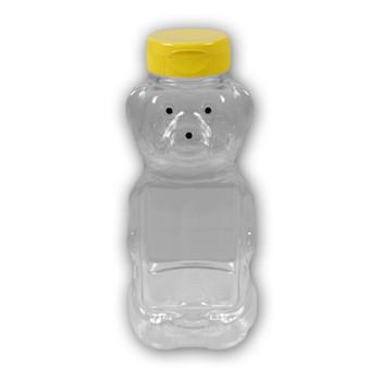 16 oz. plastic panel honey bear