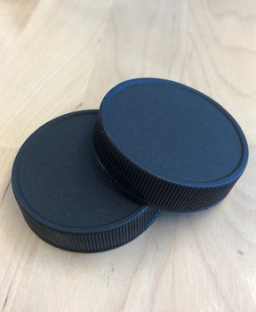 Black Plastic LINED Lids for Glass Classics (12ct) [48-BPC]