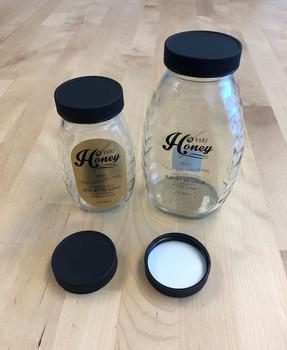 Black Plastic LINED Lids for Glass Classics (12ct) [48-BPC]