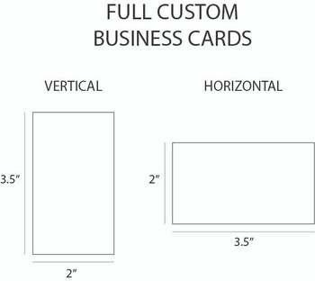 Full Color Custom Business Card layouts