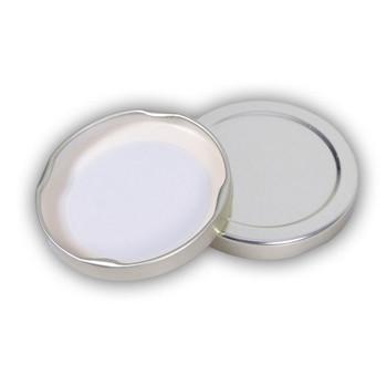 58mm LUG Plain Gold Metal Lids for 12 oz. skep jar