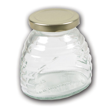 12 oz. skep jar with gold metal lid