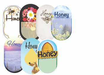 "Blank ""Honey"" Labels (roll of 250) [BHL]"