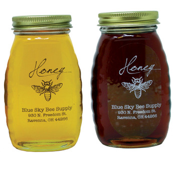 Clear honey labels