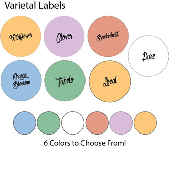 Varietal Honey Labels (roll of 250) [VTL]