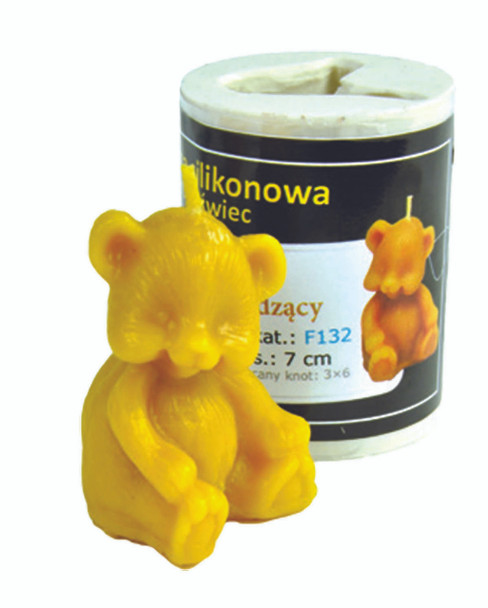 Sitting Bear Candle Mold [F132]