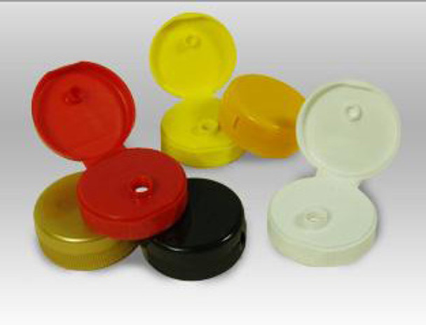 38mm flip top caps w/pressure sensitive seal
