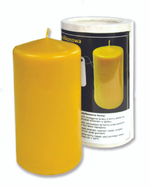 Smooth Slim Post Candle Mold [FS54]