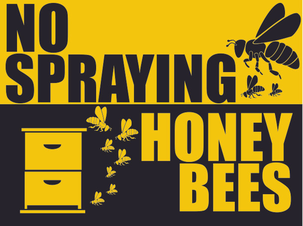 No Spraying - Bees Sign w/Stand [B8002]