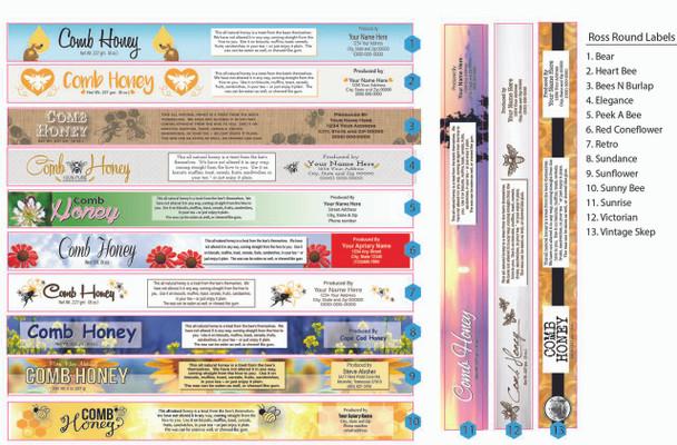 Customizable Ross Round Label Designs