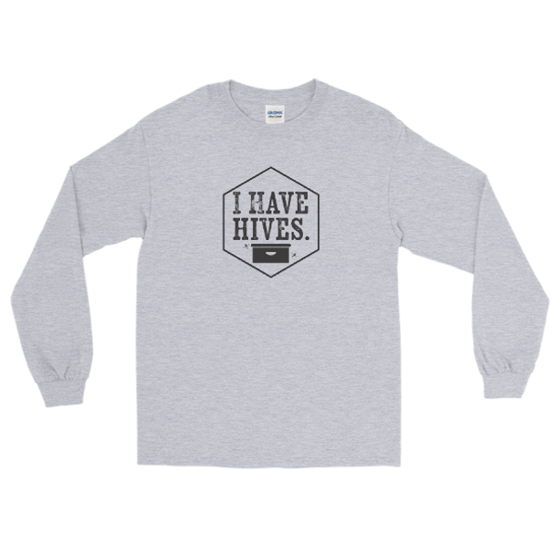 I Have Hives Long Sleeve T-Shirt (black design)