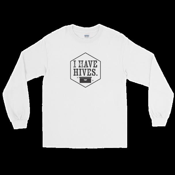 Long Sleeve T-Shirt- I Have Hives Blck
