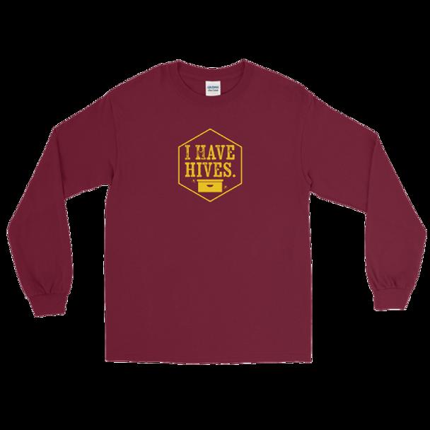 Long Sleeve T-Shirt- I Have Hives Yllw
