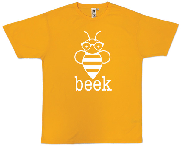 Gold T with white Beek