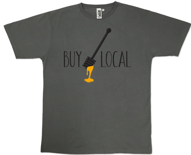 Charcoal Grey Buy Local Honey T-shirt