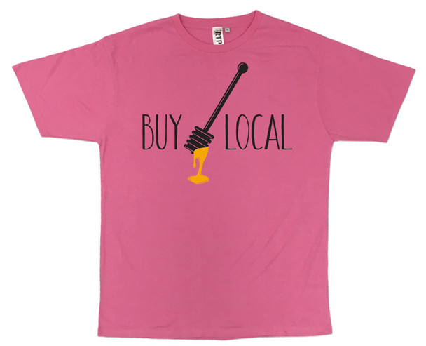 Pink Buy Local Honey T-shirt