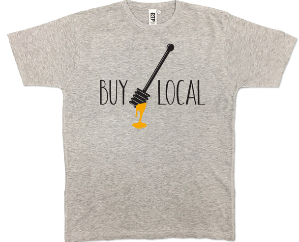 Athletic Grey Buy Local Honey T-shirt