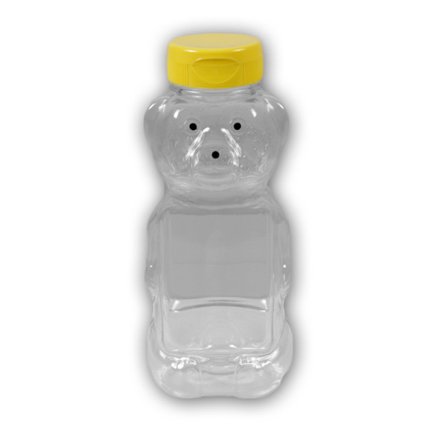 16 oz. plastic panel honey bear