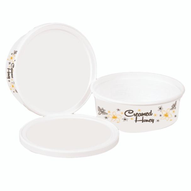 12 oz Creamed Honey Tubs (case of 100, 700 or 1,500) [CHT / CHT-12B]