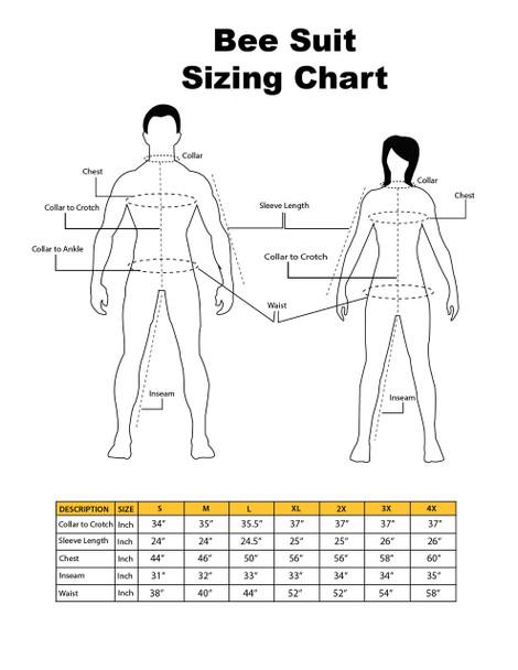 Updated sizing chart