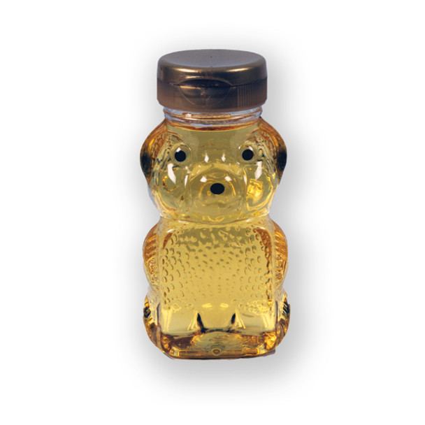 6 oz. plastic panel honey bear